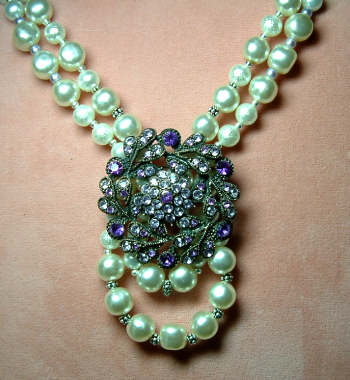costume jewelry redux necklace beaded jewelry diva