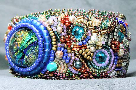 Bead Embroidery Bracelet - Where's the Party?