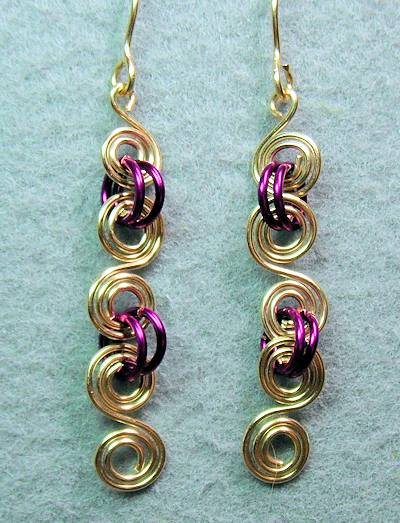 Double Spiral Wire Earrings
