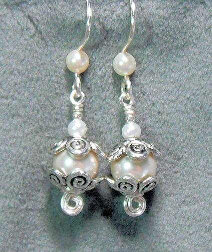 Wire Earring Findings With Dangles