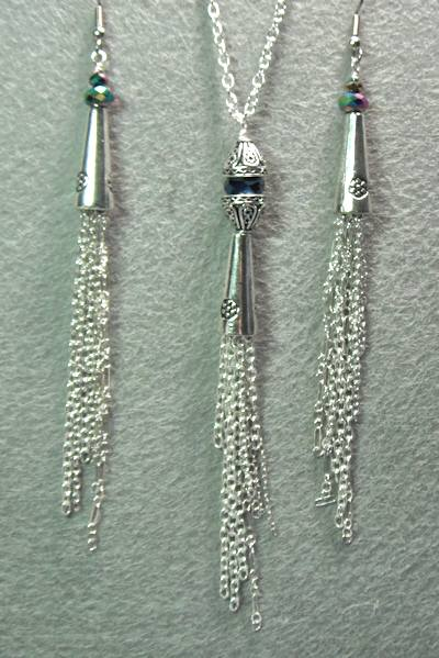 Tassel Pendant and Earrings