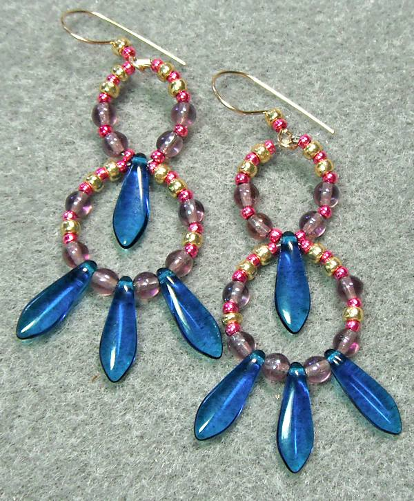 Hoops and Daggers Earrings Tutorial